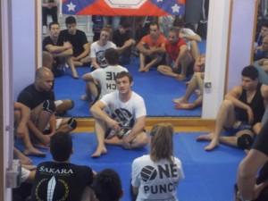Brad Pickett durante il training di Parete